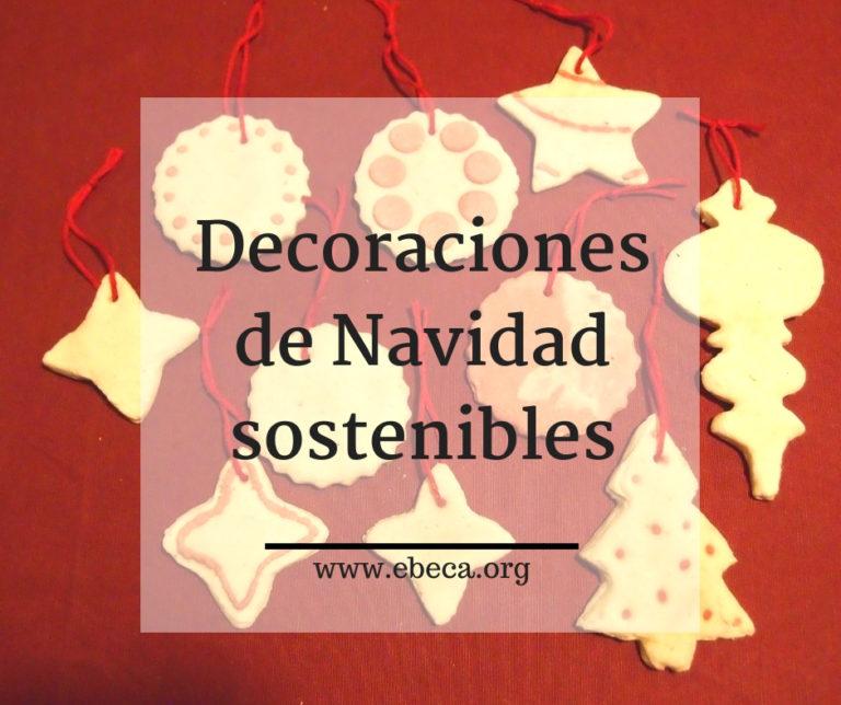 Decoraciones de Navidad sostenibles