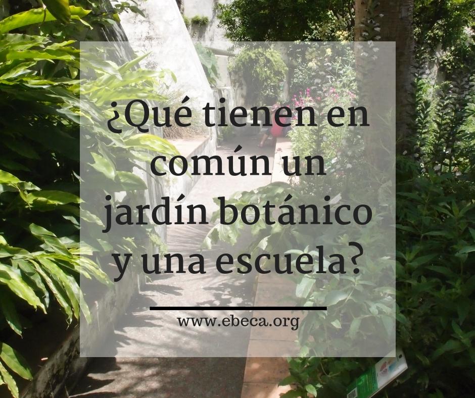 ¿Qué tienen en común un jardín botánico y una escuela?